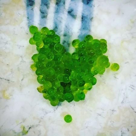 Önskar en skön måndagkväll #wasabi #tångkaviar #gröntärskönt #hjärta