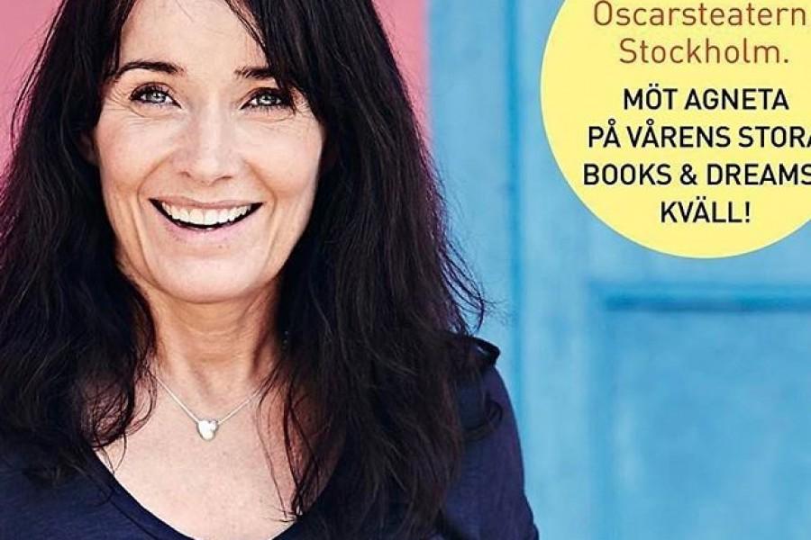 """#Repost @booksdreams with @repostapp・・・Hurra! Vi är så glada att Agneta Sjödin är en av de medverkande författarna på vår stora Books & Dreams-kväll i mars. I veckan släpptes hennes nya fina bok """"Från hjärtat"""". Hon beskriver den som en inspirationsbok, om att leva från hjärtat, att bygga upp en bra och kärleksfull relation till sig själv och sin omgivning. Just nu får du boka 3 biljetter men betalar endast för 2! Ange koden Earlybird vid bokning. Läs mer och boka på booksdreams.se eller ticketmaster.se Hoppas vi ses! #booksdreams @bokforlagetsemic"""
